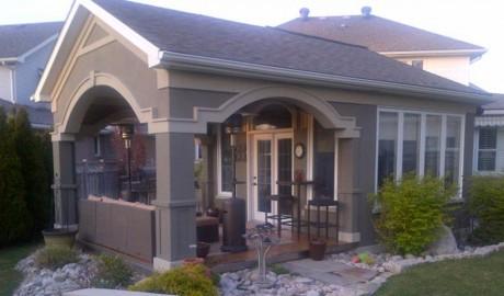 Covered Porch & Sunroom
